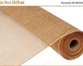 18% OFF 21 Inch Natural Jute Poly Mesh RY900518, Deco Mesh Supplies
