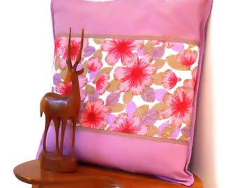 Perfectly PINK  RETRO Campervan Beach Hut cushions! genuine 70s / 60s Towelling Vintage fabric