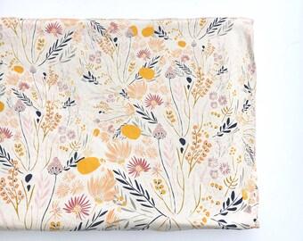 Crib Sheet or Changing Pad Cover- WISPY DAYBREAK- floral crib sheet- floral changing pad- girl baby bedding- girl crib bedding- wildflower