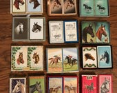 Set of 24 Single Vintage Horse Playing Cards Swap Cards