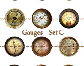 Steampunk Magnets, Steampunk Gauges, Steampunk Pins, Fridge Magnets