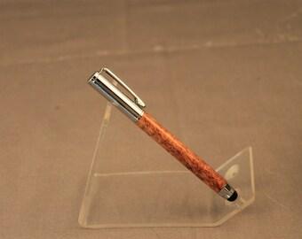 Afzelia Lay Clip Style Telescoping Pen/Stylus Chrome