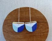 Shield Long Hook Earrings...