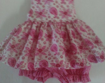 "Baby Alive  And Waldorf Doll Clothes Adorable Dress 10"" 12"" Or 15"" Pink Paisley"