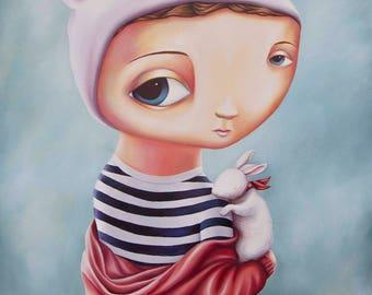 Velveteen Rabbit - A4 Limited Edition Pop Surreal Fine Art Print- by Rachel Favelle
