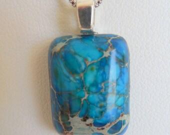 Blue Sea Jasper pendant necklace