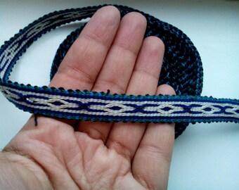Uzbek handwoven cotton trim Jiyak. Tribal ethnic, boho, hippy trim. TR049