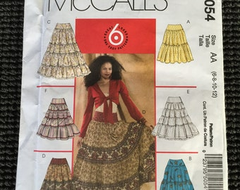 McCall's 5054 Misses Skirts Flared Tiers Ruffles Skirt Sewing Pattern Size 6-12 UNCUT