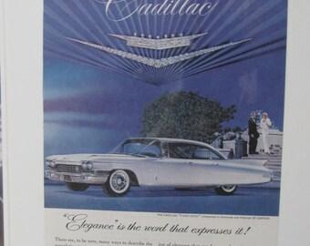 1960 Caddy Cadillac Vintage Original Auto Car GM Ad
