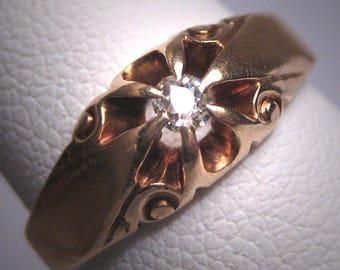 Antique Wedding Ring Mine Cut Diamond Ring Victorian 1800s