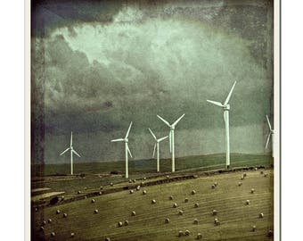 Wind Power 2 - Grunged Photographic Print by Doug Armand on Etsy