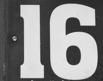 Photo of 16. NUMBER DATE PHOTOGRAPHY, Numbers Custom Date - Wedding Date -Anniversary Date - Number 16- Number Photo Art - Date Photography