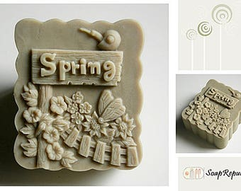 SoapRepublic Feel Spring Silicone Soap Mold