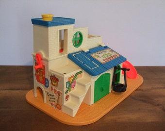 Vintage Fisher Price Play Family Sesame Street Club House