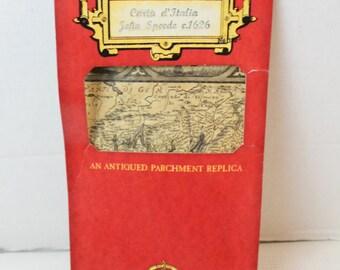 vintage antiqued parchment map