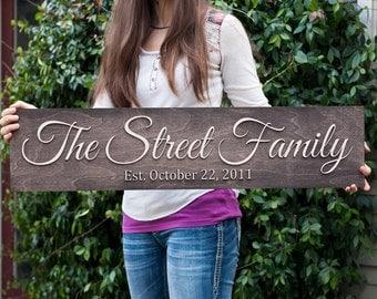 Family Name Sign | Large Family Name Sign | Last Name Sign | Wedding Name Sign | Wedding Date Sign | Family Established sign |  Name Sign