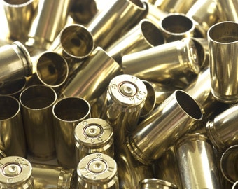 9mm Once Fired Military Brass Cleaned and Polished 9mm WCC Winchester Brass 1000ct