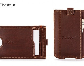The Slim Front Pocket Wallet - Chestnut | Mens Leather Wallet, Slim Wallet, Mens Wallet