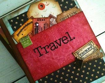 Travel Journal Smashbook Art Journal Keepsake Unlined Pages Vacation Road Trip Honeymoon Adventure Gift for Her or Him Memories