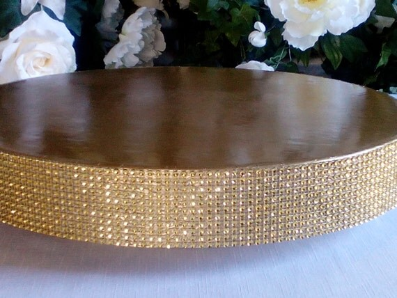 Wedding Cake Stand Glitzy Gold 14 16