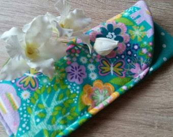 "Sunglasses Case, Fabric Eyeglasses Case, Eyeglasses Cover, Grab Bag Gift, Teacher Gift, ""Colorful Nature!"""