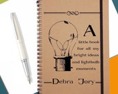 Personalised Bright Ideas NotebookNotebook Gift|A5 Spiral Notebook|Christmas Stocking|Secret Santa