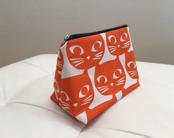 Big cosmetic bag Orange cats