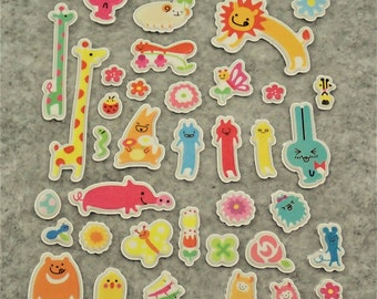 Mixed Sweet Puffy Cute Happy Longer Stickers