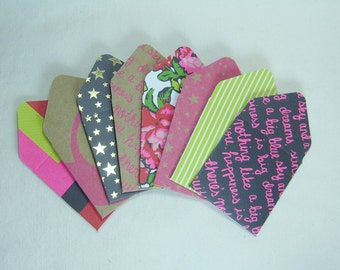 Tiny Envelopes, Set of Eight Tiny Envelopes, Teeny Tiny Envelopes, Mini Envelopes, Mini Note Cards, Envelopes with Note Cards
