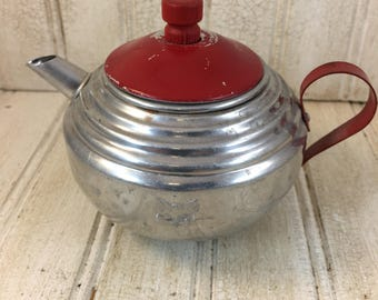 Vintage Metal Toy Tea Pot