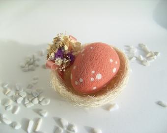 Bird Nest - Home Decor - Spring Decor - Easter Decor - Polka Dots