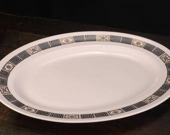 Wedgwood, Asia Black Oval Platter, 15 1/4 inches