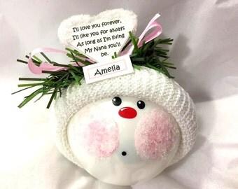 Grandma Gift Christmas Ornament I'll Love You Forever my Nana (Sample Name) You'll Be Personalized Townsend Custom Gifts