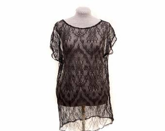 Boho top,  lace top, womens lace top, boho lace top, boho black top, black lace top, lace boho top