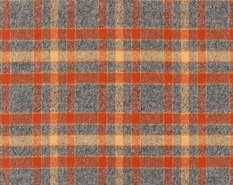 Rust Mammoth Flannel Fabric, 15605-179 RUST Plaid Flannel,  Plaid Fabric, Apparel fabric, Fabric by Yards, Robert Kaufman Fabrics