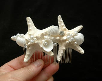 Beach Wedding Hair Comb Starfish Hair Comb Mermaid Hair Accessory, Starfish Headpiece, Nautical Wedding Beach Headpiece Destination Wedding