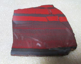 Red Silver Gray Banded Slab Jasper-Hematite Stone Slab or Cut Nice Cabs