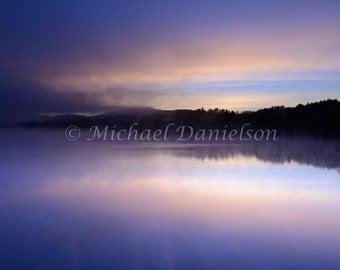 Dawn Sunrise Lake Photograph Print 8x10
