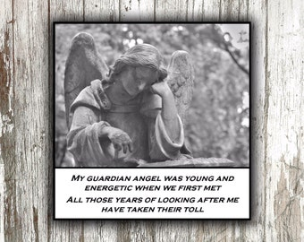 Magnet - Weary Guardian Angel - Humor