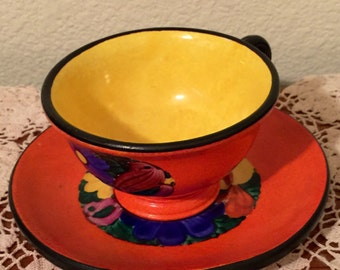 Vintage Mrazek Czech Cup and Saucer Set for Coffee Tea or Collection