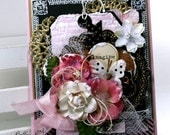 Imagine Butterfly Shabby Chic Greeting Card Polly's Paper Studio Handmade