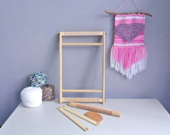 weaving Loom with heddle bar, 20 x 40 CM., weaving kit, weaving frame, weaving loom,tapestry loom