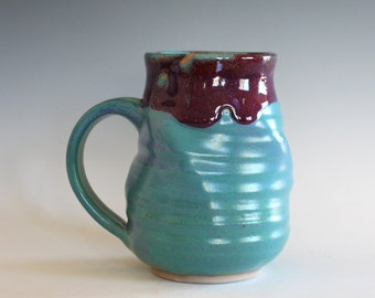 Pottery Mug TWISTED, 15 oz, pottery mug, unique coffee mug, handmade ceramic cup, tea cup, coffee cup, handthrown mug, stoneware mug