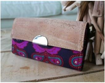 Bohemian Wallet - Boho Wallet - Accordion Wallet - Women wallet - Pink mandala