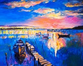 Oil Painting Original Painting Abstract Painting Abstract Art Canvas Art Large Art Wall Art Canvas Painting Large Painting Sunset painting