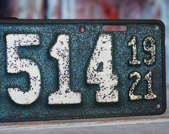 Antique 1921 Ohio license plate