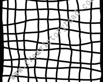 String Mesh 6 inch stencil