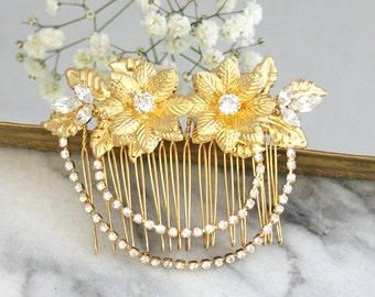 Bridal Hair Comb,Swarovski Hair Comb,Rhinestone Hair Comb,Bridal Hair Accessories,Rose Gold Hair Comb,Bridal Silver Hair Comb,Bridal Jewelry