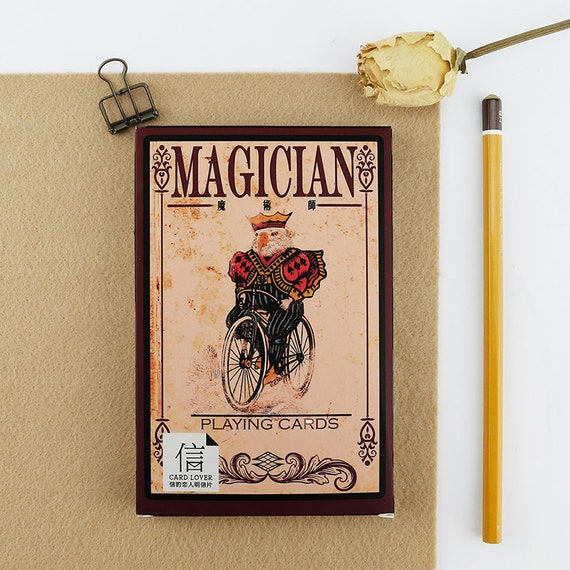 Magician message greeting card die cut cardstock