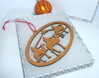 Personalized We Three Kings  Ornament Alder Wood Engraved with the Year